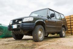 The car for a cross-country terrain Stock Photos