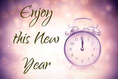 Stock Illustration of Composite image of new years greeting