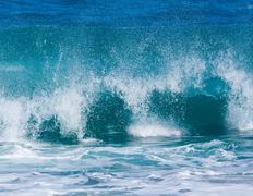 Stock Photo of Powerful waves break at Lumahai Beach, Kauai