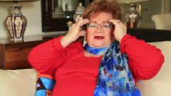 Stock Video Footage of Mature caucasian woman having headache