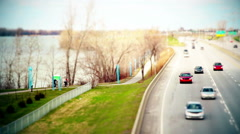 Motion-Photo (Cinemagraph) of Cyclists on a Bike Path Stock Footage