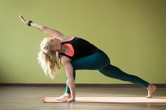 Revolved Side Angle Pose - stock photo