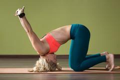 Therapeutic Yoga Training Stock Photos
