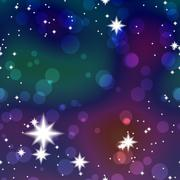 Night Colours background with stars - stock illustration