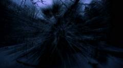Nightmare horror ghosts cemetery walk dark trippy creppy Halloween - stock footage