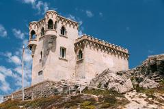 Stock Photo of Ancient medieval Castle Tower in Tarifa, Andalusia Spain