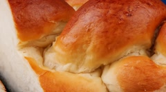French bread cuts Stock Footage