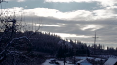 Country Scene: Winter Time-Lapse: Fresh Snow Stock Footage