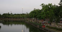Nong Prajak Public Park Stock Footage