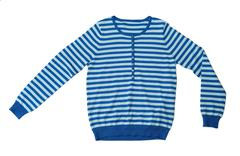 Blue striped wool sweater in the studio Stock Photos