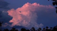 Lightining and Clouds Timelapse Stock Footage
