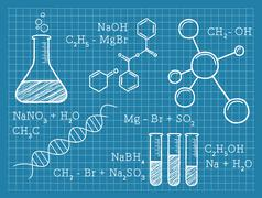 Chemistry, Science, Chemical Elements - stock illustration