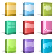 Software Boxes, Ebook Cover Designs - stock illustration