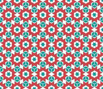 Stock Illustration of Christmas snowflake pattern on paper