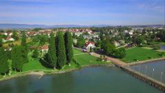 4K Swiss village - Lake Leman / Geneva Stock Footage