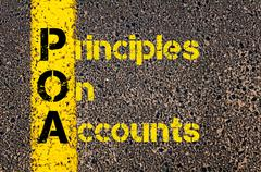 Accounting Business Acronym POA Principles of Accounts - stock photo
