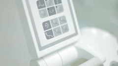 close-up shot of medical equipment in dental office. - stock footage