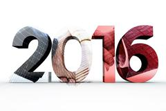 Composite image of 2016 graphic - stock illustration