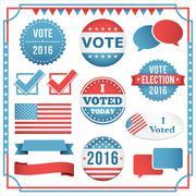 Election Element Set - stock illustration
