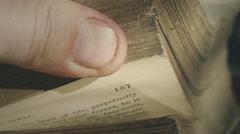 00 4K 0346 AntiqueBook Stock Footage