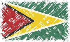 Stock Illustration of Guyana grunge flag. Vector illustration
