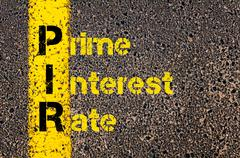 Accounting Business Acronym PIR Prime Interest Rate - stock photo
