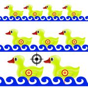 Yellow Duck Target Stock Illustration