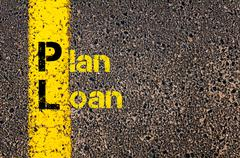 Accounting Business Acronym PL Plan Loan Stock Photos