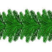 Fir Green Branches - stock illustration