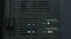 Medium angle shot of the server interface panel Stock Footage