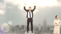 Stock Video Footage of Composite video of business people on podium