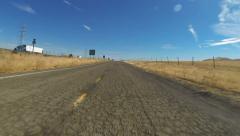 Rural Road Hyperlapse Stock Footage