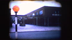 Vintage 8mm footage of a british road crossing Stock Footage
