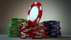 Rotating Gambling Chip Loopable Stock Footage