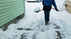 Shovel Driveway Timelapse Stock Footage