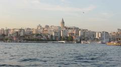 Galata Tower - stock footage