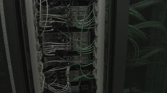 Uptilt over back of the server rack - stock footage