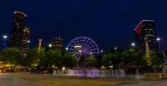 Downtown Atlanta Fountain Timelapse Stock Footage