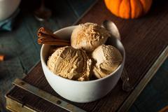 Homemade Pumpkin Pie Ice Cream Stock Photos