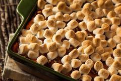 Stock Photo of Homemade Sweet Potato Casserole
