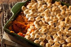 Stock Photo of Homemade Sweet Potato Casserole