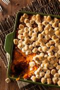 Homemade Sweet Potato Casserole - stock photo