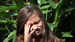 Confused Female Child - stock footage