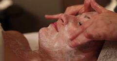 Facial Rub Camera Pull Back Stock Footage