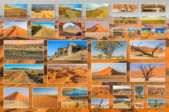 Namibia landscapes collage - stock photo