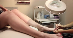 Toe Pedicure Dolly Stock Footage