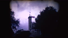 Vintage 8mm footage of the tower of London Stock Footage
