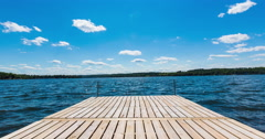 End of Residential Dock on Lake Timelapse Stock Footage