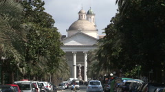 Boulevard Nicola Arata and the church Stock Footage