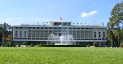 HO CHI MINH / SAIGON, VIETNAM - NOVEMBER 2015: Independence Palace - stock footage